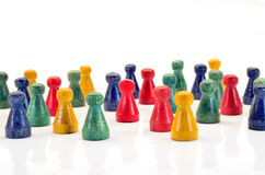 Halma3008a. Illustration of Chinese checkers figures Royalty Free Stock Images