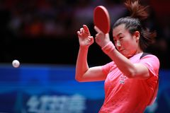 DING Ning from China Backhand Stock Photos