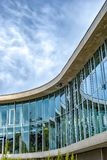 Halmstad University Library. The university of Halmstad`s library on the river stock photo