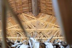 Halmtäckt tak Thailand, landsstil Fotografering för Bildbyråer