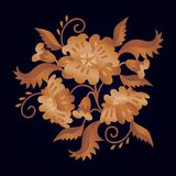Halmtäckte blommor Royaltyfria Bilder
