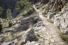Halna ścieżka w Penha Garcia, nowa, okręg Castelo Branco, Portugalia zdjęcia royalty free