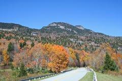 Halna autostrada Obramiająca w jesień kolorach Obrazy Stock