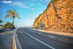 Halna autostrada w Hiszpania Fotografia Stock