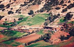 Halna berber wioska W atlant górach Fotografia Royalty Free
