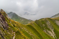 Halna buda Kaiserjochhaus w Lechtal Alps, Północny Tyrol, Austria Zdjęcia Stock