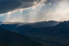 Halna dolinna niebo chmur burza Obraz Stock