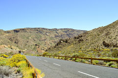 Halna droga do góry Teide w Tenerife Zdjęcia Royalty Free
