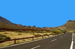 Halna droga TF-21 do góry Teide Zdjęcie Royalty Free