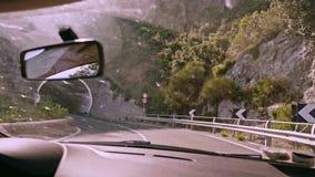Halna droga w Amalfi Włochy zdjęcie wideo