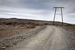 Halna droga w Iceland Obrazy Royalty Free