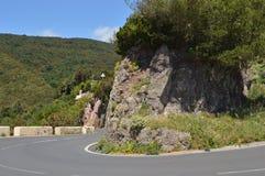 Halna droga w Tenerife wyspach kanaryjska obrazy royalty free
