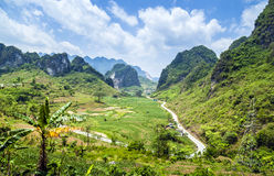Halna droga w Wietnam Fotografia Royalty Free