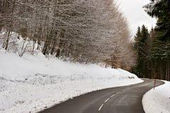 halna drogowa zima Obraz Stock