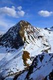 Halna grań Aibga, Czarny Pyramide szczyt. Fotografia Stock