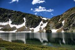 Halna jeziorna sceneria Obrazy Royalty Free