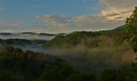 Halna mgła obrazy royalty free