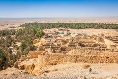 Halna oaza Chebika przy granicą Sahara, Tunezja, Afryka Zdjęcie Royalty Free
