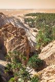 Halna oaza Chebika przy granicą Sahara, Tunezja, Afryka Fotografia Stock