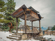 Halna pagoda w zimie Obraz Stock