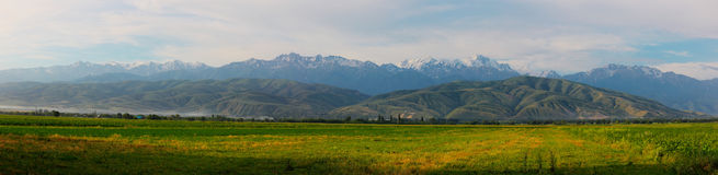 halna panorama Zdjęcia Royalty Free