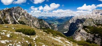 Halna panorama - Dolomiti, Włochy Zdjęcie Royalty Free