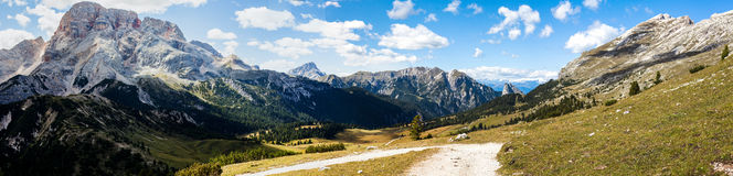 Halna panorama - Dolomiti, Włochy Obraz Royalty Free