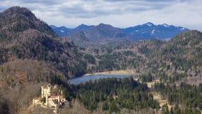 Halna panorama w allgaeu alps fotografia stock