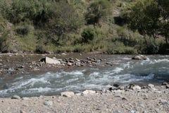 Halna rzeka, kamienie w wodzie Zdjęcia Royalty Free