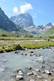 Halna rzeka, krajobraz Zdjęcia Stock