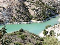 Halna rzeka w Cypr zdjęcia stock