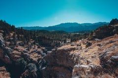 Halna sceneria blisko kemer, Antalya, indyk Zdjęcia Stock