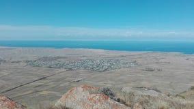 Halna sceneria w Bokonbayevo w Kirgistan 3 obraz royalty free
