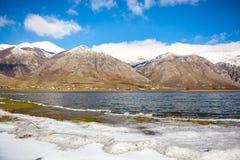 Halna sceneria z śniegiem Obraz Stock