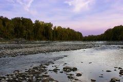 Halna strumień natury scena obraz stock