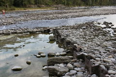 Halna strumień natury scena zdjęcie stock