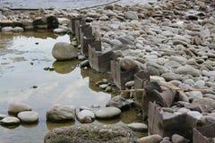Halna strumień natury scena zdjęcia stock