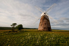 Halnaker windmill front view. Front view of halnaker windmill Stock Photo