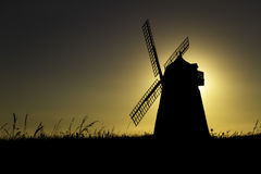 Halnaker windmill silhouette at Sunset Stock Images