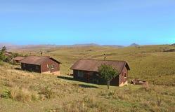 Halne kabiny przy Malolotja rezerwą w Swaziland Zdjęcia Stock