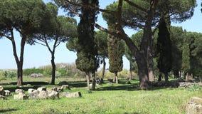 Halne rowerzysta przejażdżki na Appian sposobie zdjęcie wideo
