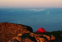 halnego namiotu wierzchołek Fotografia Royalty Free