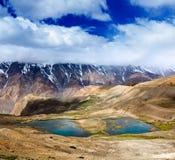 Halni jeziora w himalajach Fotografia Royalty Free