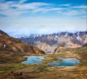 Halni jeziora w himalajach Zdjęcia Royalty Free