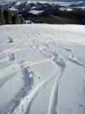 Halni narta ślada w śniegu obrazy stock
