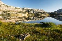 Halni odbicia przy Libby jeziorem fotografia stock