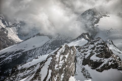Halni szczyty, śnieg i lodowowie blisko Kaprun, - Zell am Widzii, Austria Zdjęcie Royalty Free