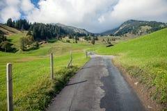Halni szczyty, strumienie i łąki w Grindelwald, Szwajcaria Zdjęcie Royalty Free