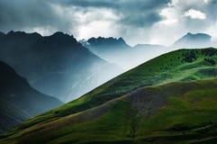 Halni szczyty Wielki Kaukaz Zdjęcia Stock