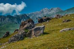 Halni szczyty Wielki Kaukaz Obraz Royalty Free
